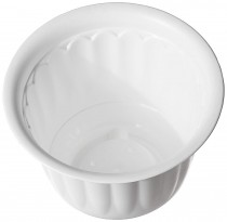 plastic Jasmine Pot with Bottom Tray Set (10-inch, White, 3-Pieces)