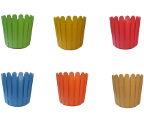 Plastic Fence Garden Pot (Multicolored, 11 Inch) Set of 1 Piece (Available in six color)