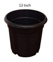 Nursery 12 inch black pots set of 6 for indoor & Outdoor Plant container