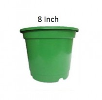 Green 8 inch nursery pots set of 6 pieces