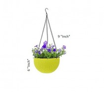 Home Decoration Euro Baskets Flower Pot Pack of 3 Multi Color