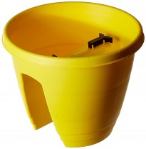 Plastic Railing Pot with Lock Set (12-inch)