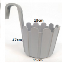7 Inch Fence Hook Railing Pot