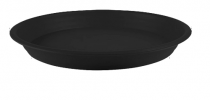 plastic bottom tray 6 inch black colour
