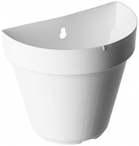 6 Inch Wall Planter- white