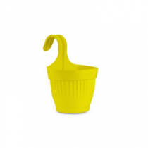 Plastic Dzire Pot-07 Hanging Planter - yellow