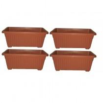 Rectangular Window Planter gardening set of 4 Pots