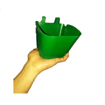 Hook pots set of 6 pieces green