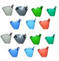 Hook pots set of 14 pieces colored