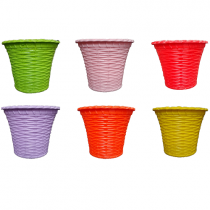 Decorative Juhi Super Pot - Multicolour - Pack of 6 In 4 inch